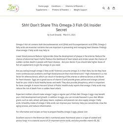 Shh! Don't Share This Omega-3 Fish Oil Insider Secret