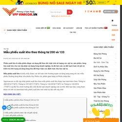 Share ✅ Mẫu phiếu xuất kho theo thông tư 200 và 133 » VPP VINACOM
