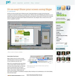 It's so easy! Share your screen using Skype « Blog