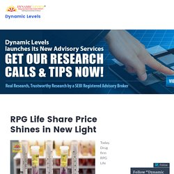 RPG Life Share Price Shines in New Light – Dynamic Levels