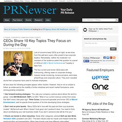 CEOs Share 10 Key Topics They Focus on During the Day