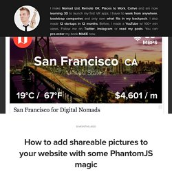 How to add shareable pictures to your website with some PhantomJS magic
