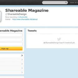 Shareable Magazine (ShareableDesign) sur Twitter