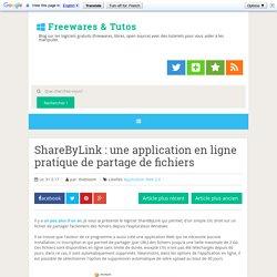 une application en ligne pratique de partage de fichiers ~ Freewares & Tutos