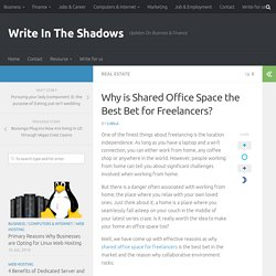 Why is Shared Office Space the Best Bet for Freelancers?