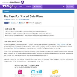 THE CASE FOR SHARED DATA PLANS