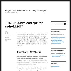 SHAREit download apk for android 2017