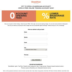 Sharekhan, Open a Free Online Trading Account