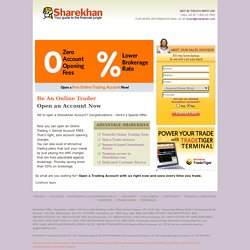 Sharekhan - Zero Account Opening Fee