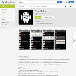 ShareMyApps – Applications Android sur Google Play