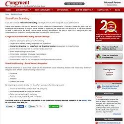 SharePoint Branding & Design Services – Congruent