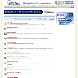 SharePoint Products Catalog, SharePoint web part solutions - KWizCom.com