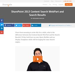SharePoint 2013 Content Search WebPart and Search Results