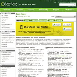 Bamboo SharePoint Task Master