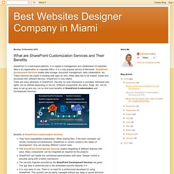 Best Websites Designer Company in Miami: What are SharePoint Customization Services and Their Benefits