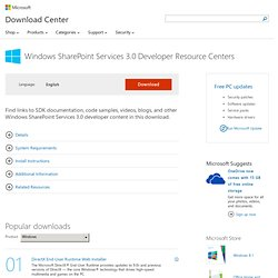 Pages and User Interface Resource Center for Windows SharePoint Services | 3.0, developer, sites