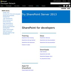 Get Started Developing on SharePoint 2010 | Training, Video | MSDN