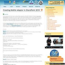 SharePoint Web Parts - SharePoint Mobile - SharePoint Development