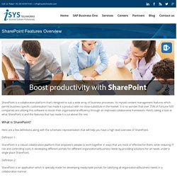 SharePoint Features Overview - Isys Techworks Limited