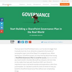 Start building a SharePoint Governance Plan - Real World
