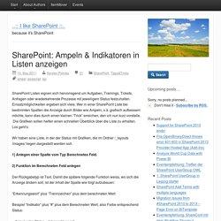 SharePoint: Ampeln & Indikatoren in Listen anzeigen