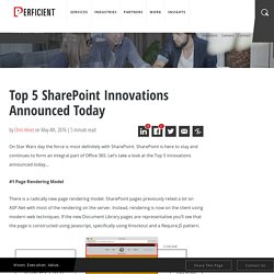 Top 5 SharePoint Innovations Announced Today