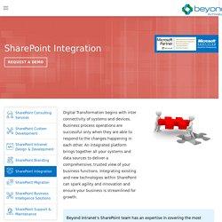 SharePoint Integration Services - Beyond Intranet