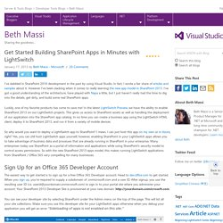 Get Started Building SharePoint Apps in Minutes with LightSwitch