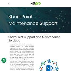 SharePoint Maintenance Support - Katpro