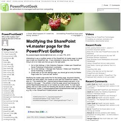 Modifying the SharePoint v4.master page for the PowerPivot Gallery « PowerPivotGeek