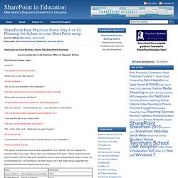 SharePoint in Education - Mike Herrity's Blog about SharePoint in Education