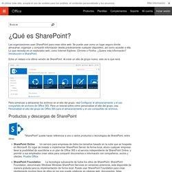 ¿Qué es SharePoint? - Soporte técnico de Office