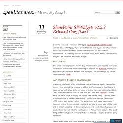 SharePoint SPWidgets v2.5.2 Released (bug fixes)