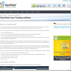 SharePoint Issue Tracking solutions