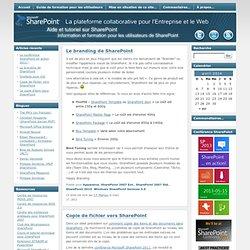 Aide et tutoriel sur Microsoft SharePoint