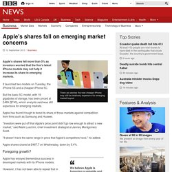 Apple's shares fall on emerging market concerns