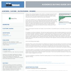 ShareThis | Audience Buying Guide 2011 | Advertising Age
