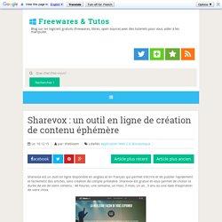 un outil en ligne de création de contenu éphémère