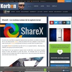 ShareX - Le couteau suisse de la capture écran