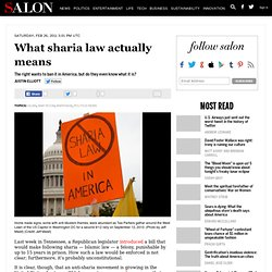 What sharia law actually means - War Room