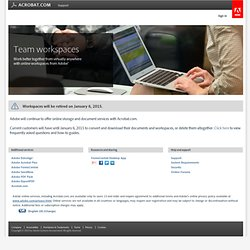 Web conference software, online meeting services, online conferencing tools | Acrobat.com | Adobe