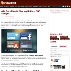 45+ Social Media Sharing Buttons PSD Designs