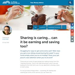 Sharing is caring… can it be earning and saving too?