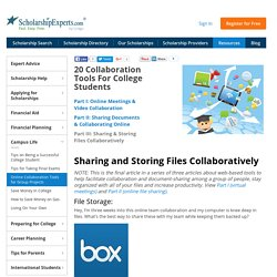 Sharing and Storing Files Collaboratively