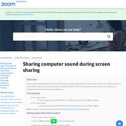Sharing Computer Sound During Screen Sharing