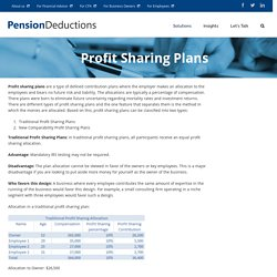 Profit Sharing Plans - A small step in the right direction for business owners