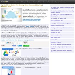 Best Free Online File Sharing Sites - Document Sharing Sites