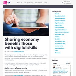 Sharing economy benefits those with digital skills