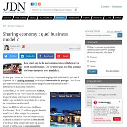 Sharing economy : quel business model ?