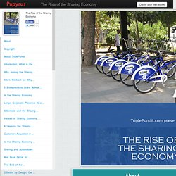 The Rise of the Sharing Economy- PapyrusEditor
